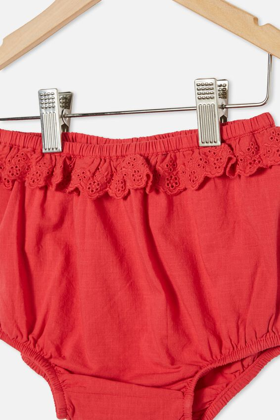 Faye Ruffle Bloomer, LUCKY RED