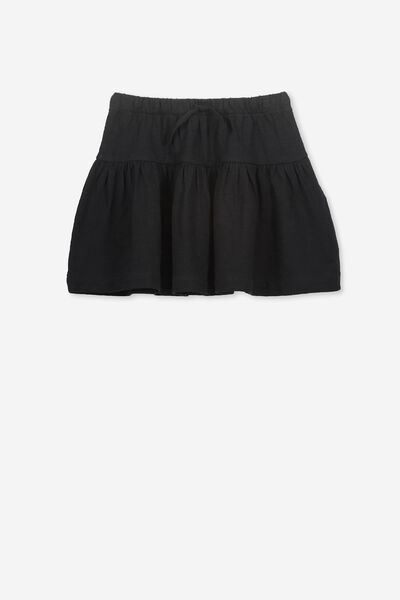 Cilla Skirt, BLACK/SLUB