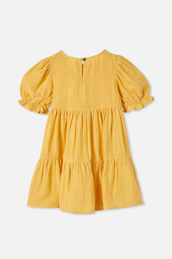 Joy Short Sleeve Dress, HONEY GOLD