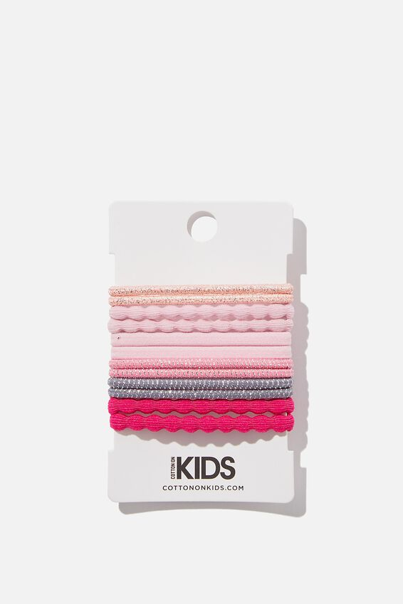 Knot Messy Hairties, BERRY PINK