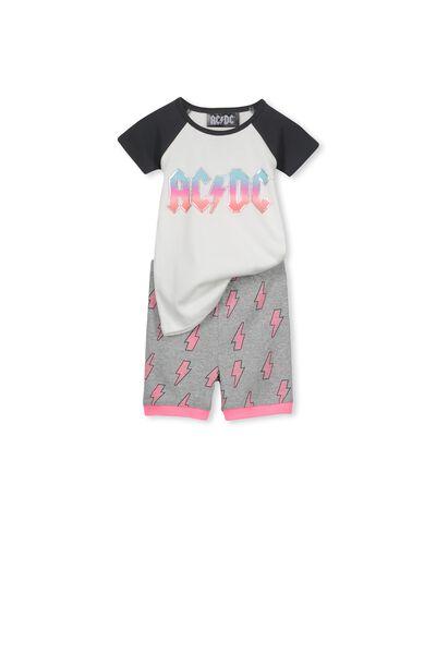 Lexi Girls Short Sleeve PJ Set, AC/DC