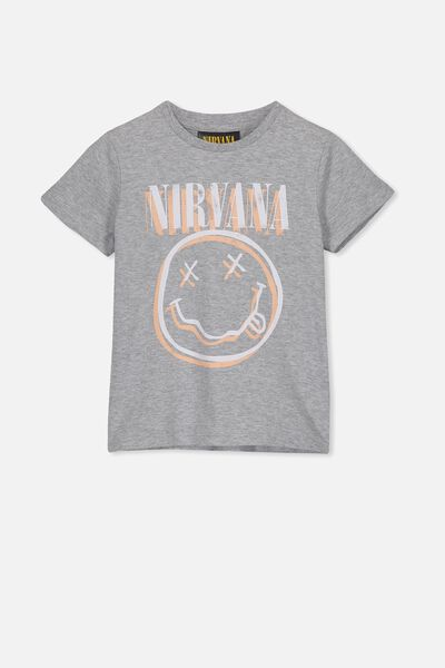 Lux Short Sleeve Tee, LCN LN LIGHT GREY MARLE/NIRVANA/MAX