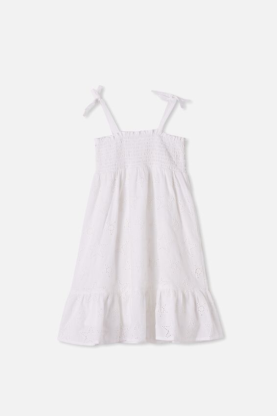 Lily Mae Sleeveless Dress, WHITE