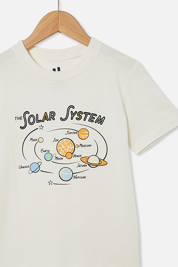 Downtown Short Sleeve Tee, RETRO WHITE / GLOW IN THE DARK SOLAR SYSTEM