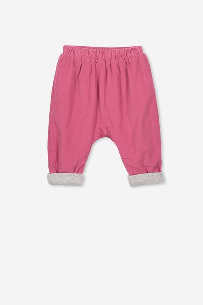 The Baby Cord Pant, CARMINE PINK