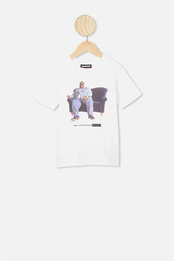 Co-Lab Short Sleeve Tee, LCN MT WHITE BIGGIE COUCH