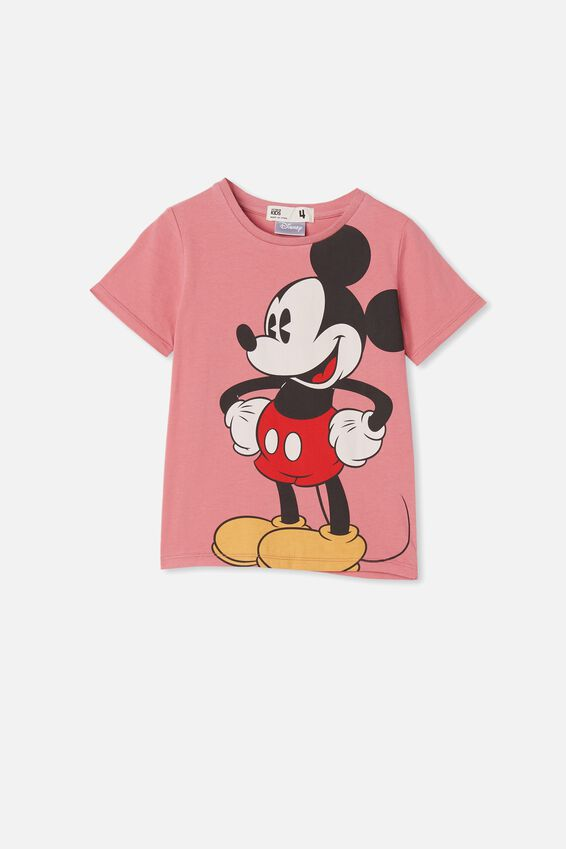 License Short Sleeve Tee, LCN DIS VERY BERRY/OVERSIZED MICKEY
