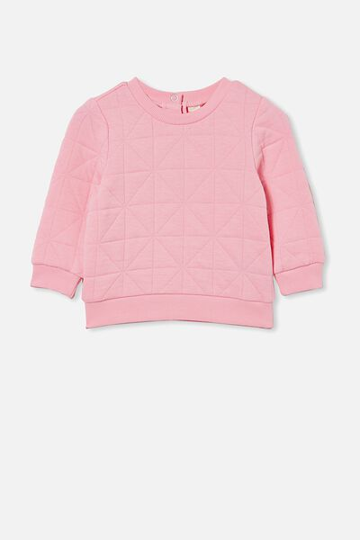 Greer Quilted Sweater, CALI PINK