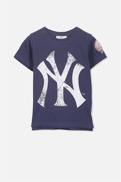 Short Sleeve License Tee, NAVY/NEW YORK YANKEES