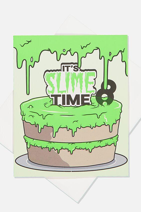Alex Birthday Card, 8TH BIRTHDAY SLIME CAKE