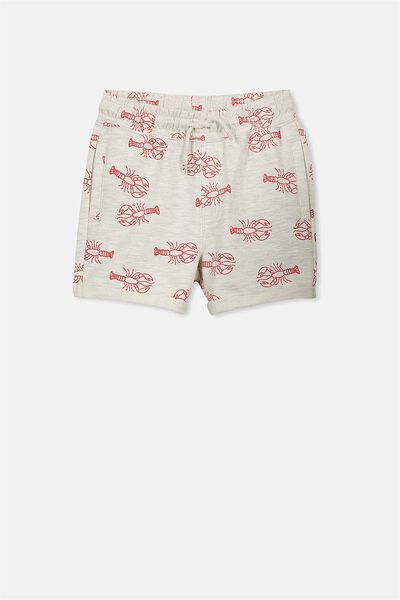 Henry Slouch Short, OATMEAL MARLE/LOBSTERS