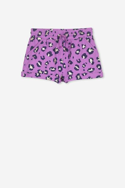 Nila Knit Short, IRIS ORCHID/ANIMAL FOIL