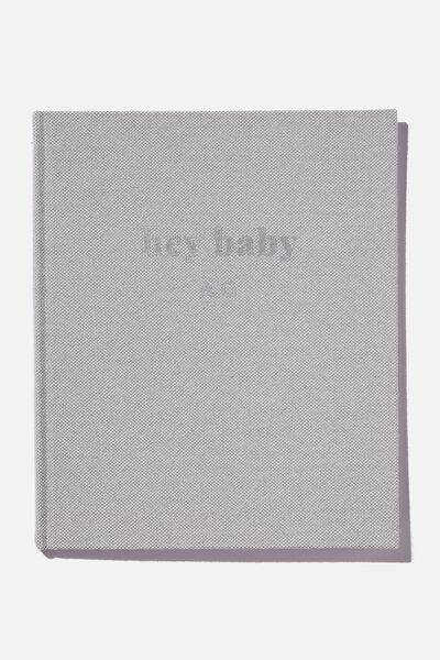 Personalised Baby Book, HEY BABY ETHER