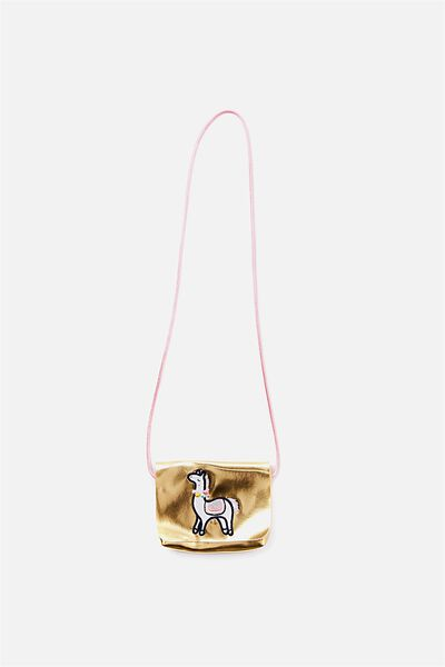 Metallic Party Bag, GOLD/LLAMA