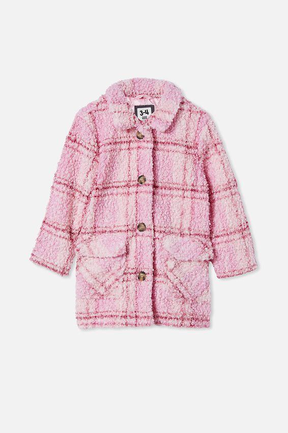 Cecilia Check Jacket, MARSHMALLOW CHECK
