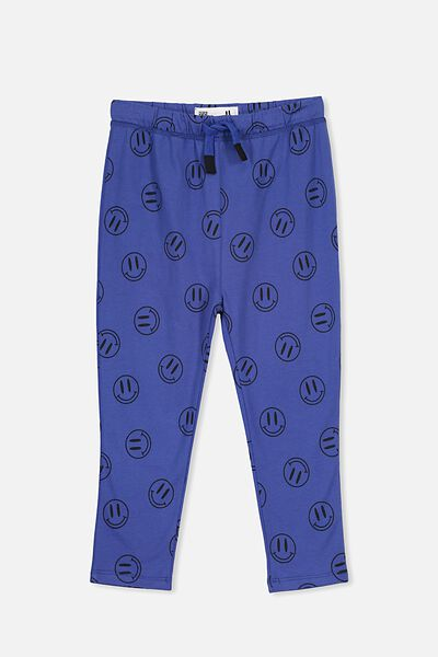 Brooklyn Slouch Pant, SCUBA BLUE/SMILEY