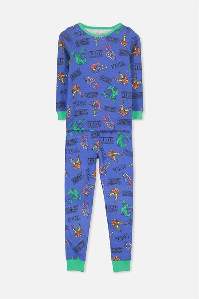 Dan Long Sleeve Boys PJs, LCN AVENGER ACTION HEROES