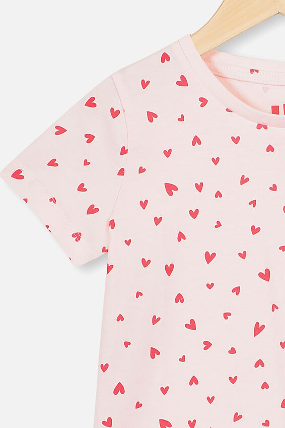 Penelope Short Sleeve Tee, CRYSTAL PINK/RED HEARTS/MAX