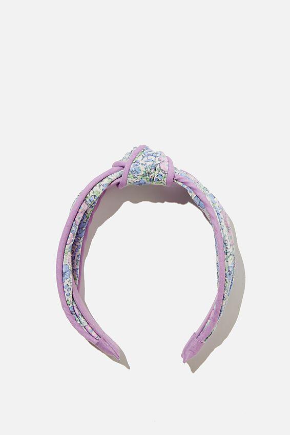Knotted Headband, VANILLA VINTAGE FLORAL