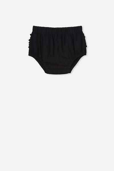 Stella Ruffle Bloomers, BLACK