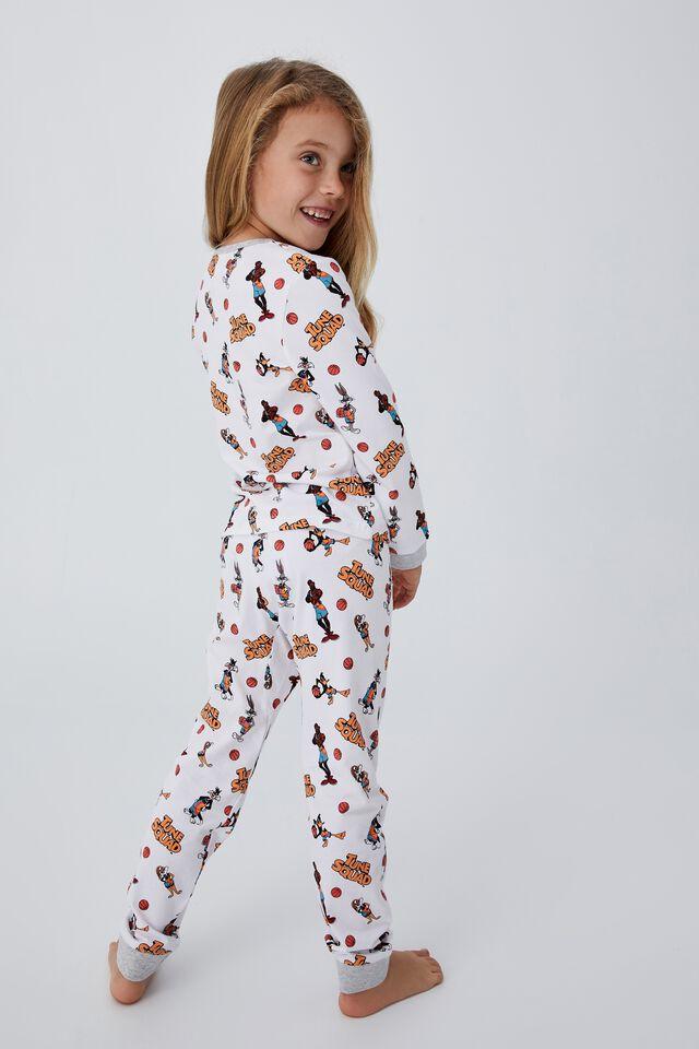 Space Jam Florence Long Sleeve Pyjama Set, LCN WB SPACE JAM SQUAD GROUP SHOT WHITE