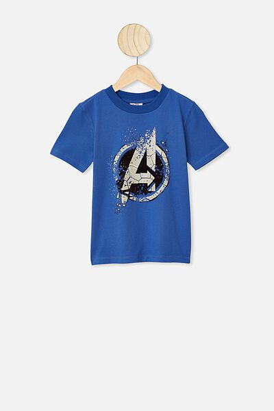 Co-Lab Short Sleeve Tee, LCN MAR AVENGERS/VINTAGE BLUE