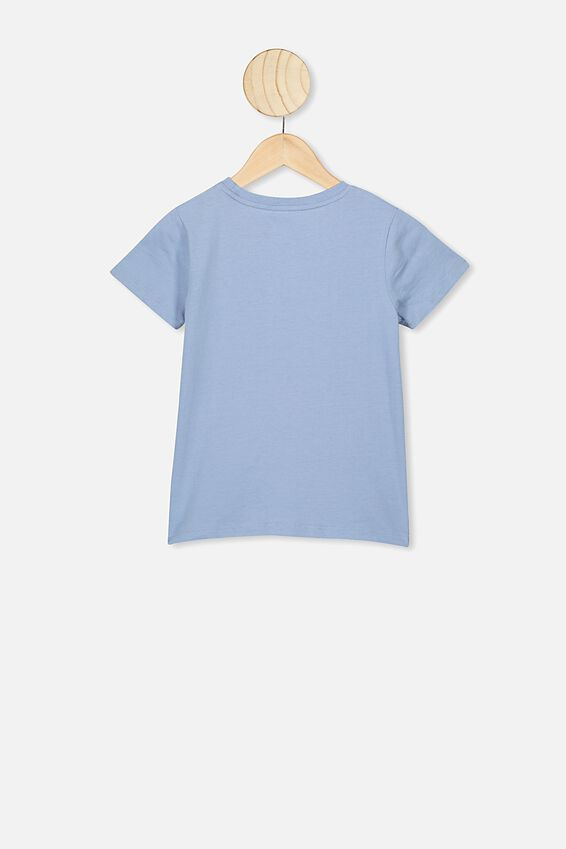 Stevie Ss Embellished Tee, DUSTY BLUE/SEQUIN RAINBOW