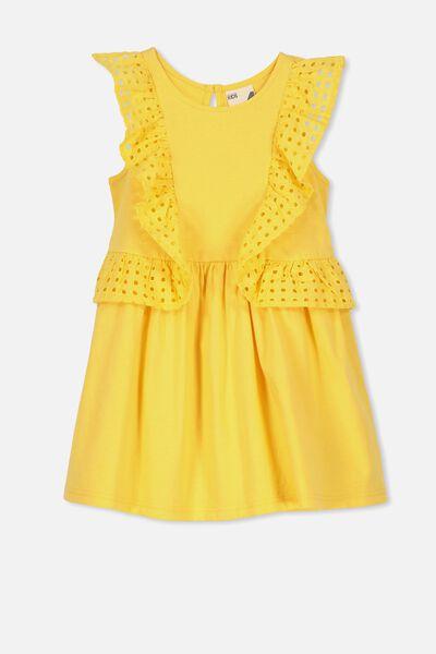 Sheridan Sleeveless Dress, SUNSET GOLD