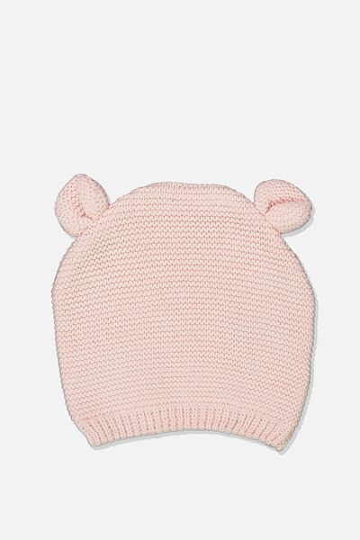 Baby Knit Beanie, CRYSTAL PINK