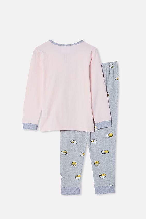 Florence Long Sleeve Pyjama Set Licensed, LCN SAN GUDETAMA/CRYSTAL PINK