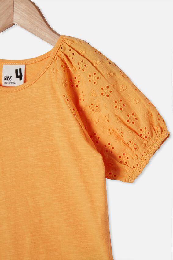 Isabella Puff Sleeve Top, PAPAYA