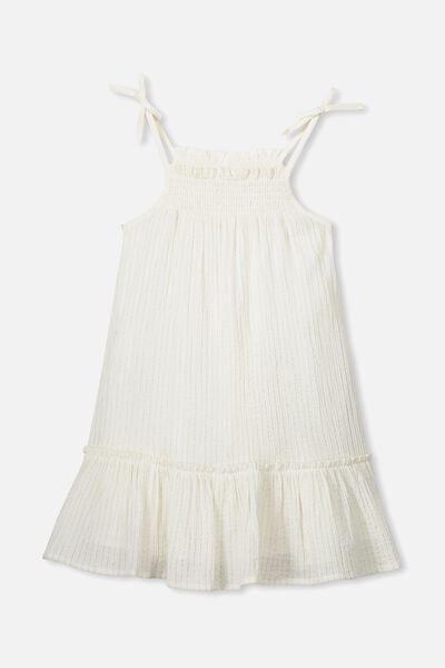Lila Sleeveless Dress, WHITE/SPARKLE STRIPE