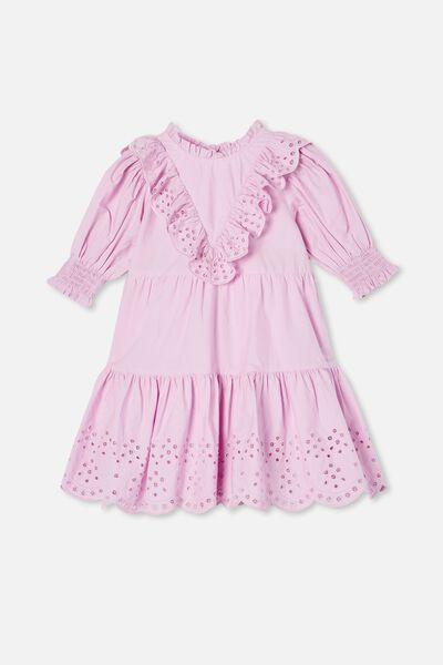 Magnolia Short Sleeve Dress, PALE VIOLET