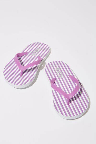 Printed Flip Flop, UNICORN DREAM/WHITE STRIPE