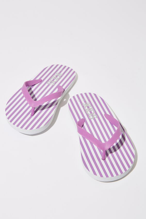 Printed Flip Flop, UNICORN DREAM/WHITE STRIPE