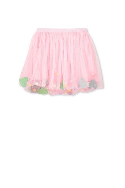 Trixiebelle Tulle Skirt, PINK SORBET/GLITTER SHAPES