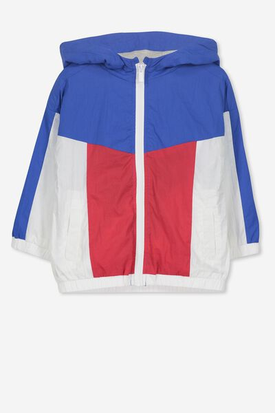 Whitney Spray Jacket, BLUE RED/COLOUR BLOCK