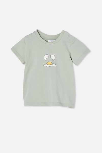 Jamie Short Sleeve Tee-Lcn, LCN SAN STONE GREEN/GUDETAMA CRACK ME UP