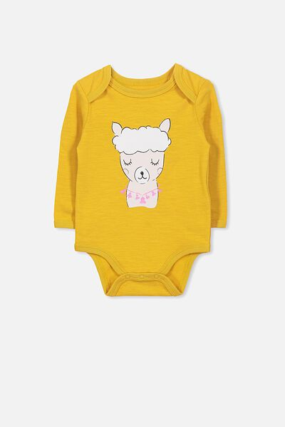 Mini Long Sleeve Bubby, MINERAL YELLOW/ALPACA