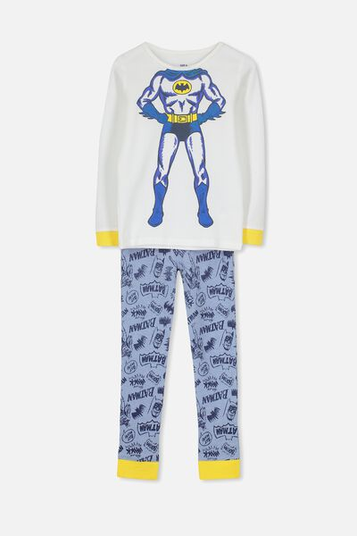 Jack Boys Long Sleeve Waffle Pyjama Set, LCN I AM BATMAN