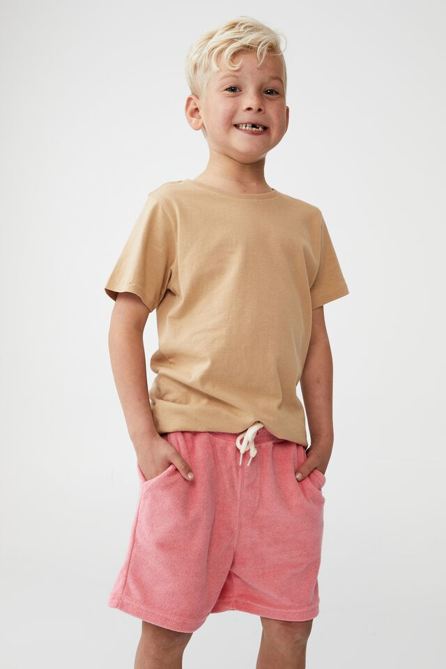 Henry Slouch Short 80/20, RETRO CORAL/TERRY TOWELLING
