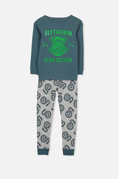 Harry Long Sleeve Boys PJ Set, LCN HARRY POTTER SLYTHERIN