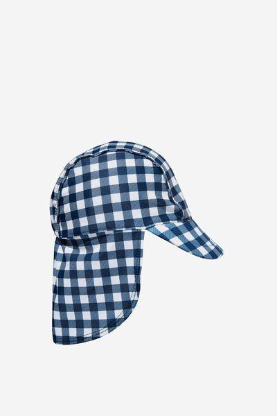 Sammy Swim Hat, INDIGO/VANILLA DYLAN GINGHAM
