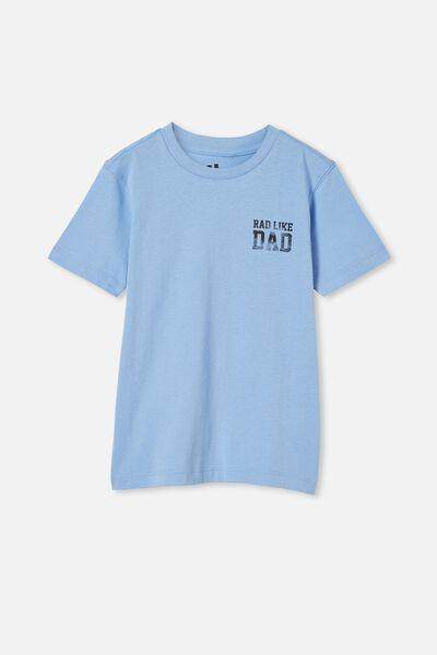 Max Skater Short Sleeve Tee, DUSK BLUE/RAD LIKE DAD