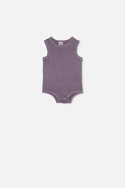 Loki Singlet Bubbysuit, DUSK PURPLE WASH