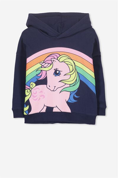 Lux Hoodie, OVERSIZED MY LITTLE PONY/PEACOAT