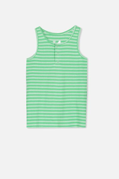 Tilley Tank, NEW GREEN/WHITE