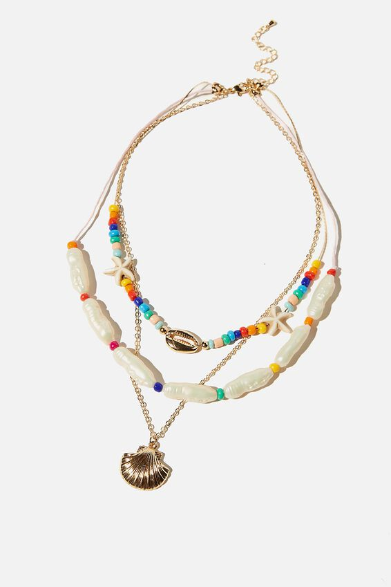 Kids Fashion Jewellery Necklace, BRIGHT PEARLY
