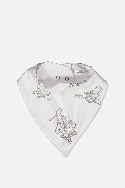 The Kerchief Bib, LCN DIS WHITE/TOY STORY