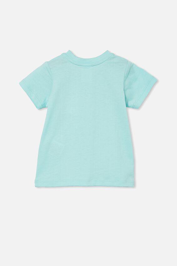 Jamie Short Sleeve Tee, DREAM BLUE/RAINBOW BUTTERFLIES